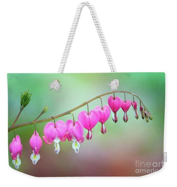 Beautiful Bleeding Hearts Weekender Tote Bag