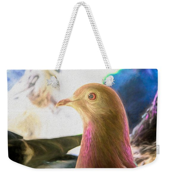 Beautiful Homing Pigeon Painted Weekender Tote Bag