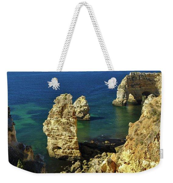 Beautiful Marinha Beach From The Cliffs Weekender Tote Bag