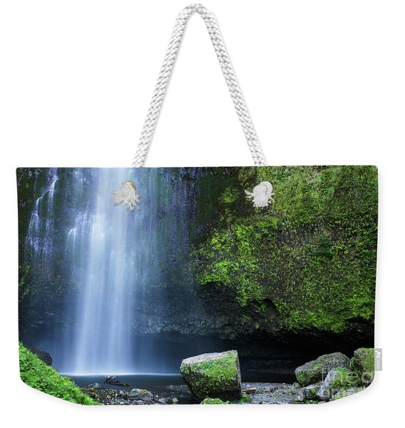 Weekender Tote Bag featuring the photograph Beautiful Multnomah Falls by Charmian Vistaunet