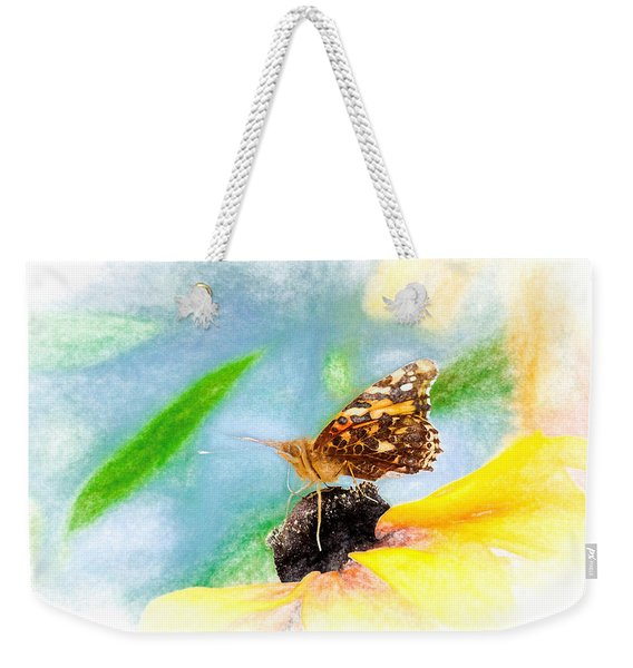 Weekender Tote Bag featuring the photograph Beautiful Painted Lady Butterfly by Don Northup