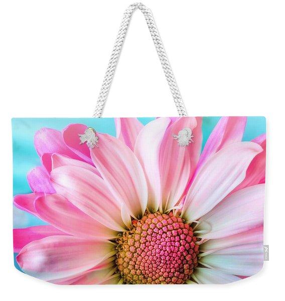 Beautiful Pink Flower Weekender Tote Bag