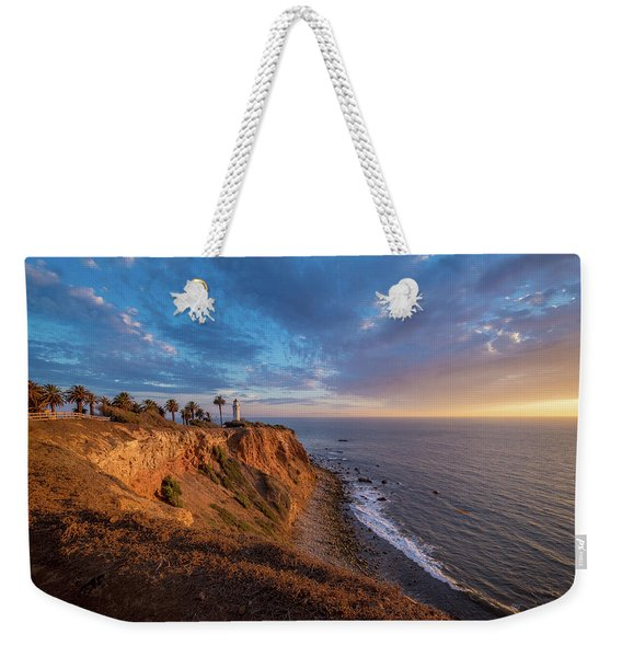 Beautiful Point Vicente Lighthouse At Sunset Weekender Tote Bag
