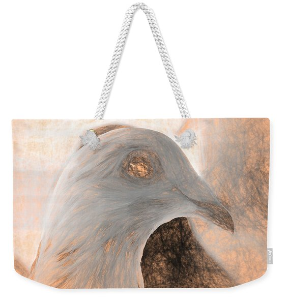 Weekender Tote Bag featuring the photograph Beautiful Racing Pigeon Da Vinci by Don Northup