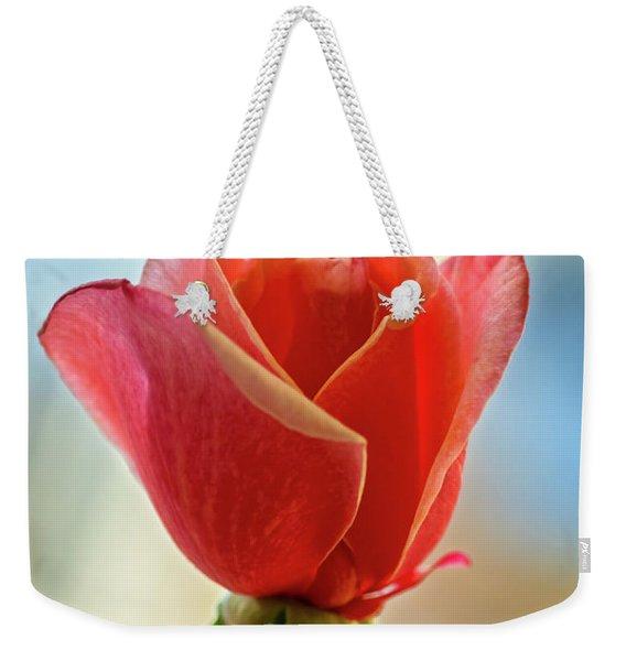 Beautiful Red Bud Weekender Tote Bag