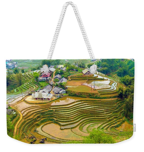 Beautiful Rice Fields, Vietnam Weekender Tote Bag