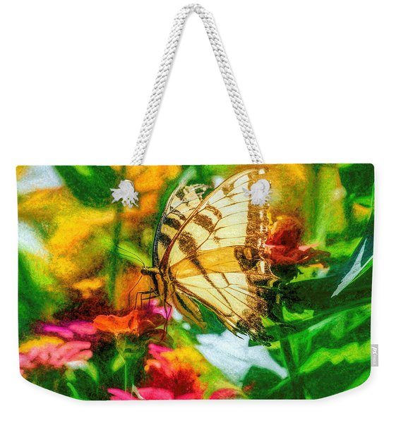 Weekender Tote Bag featuring the photograph Beautiful Swallow Tail Butterfly by Don Northup