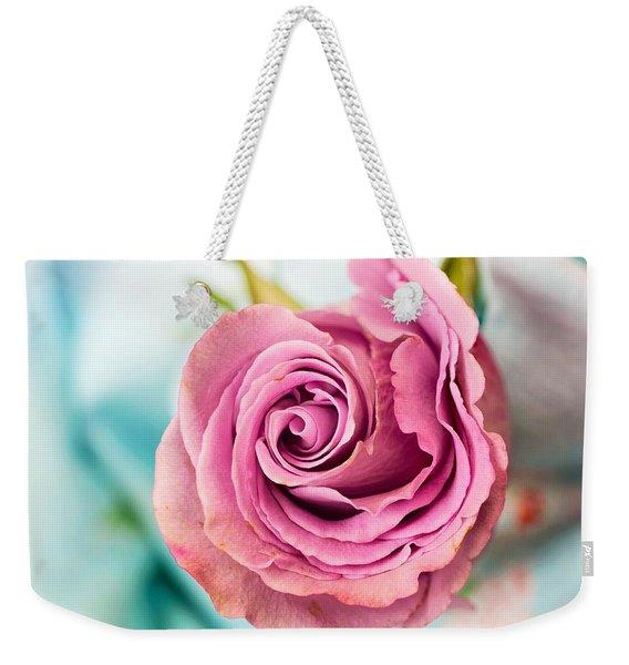 Beautiful Vintage Rose Weekender Tote Bag