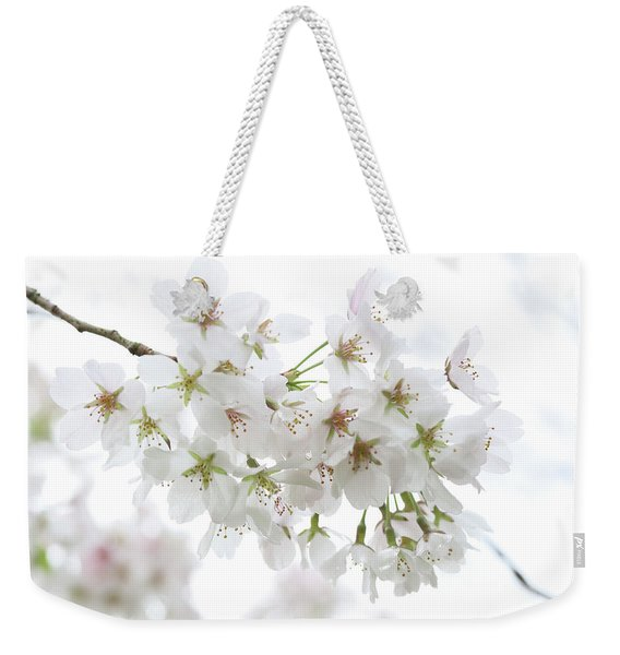 Beautiful White Cherry Blossoms Weekender Tote Bag