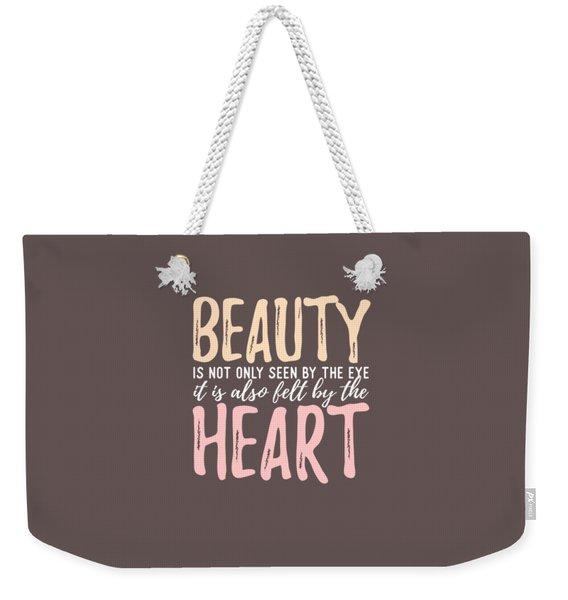 Beauty Heart Weekender Tote Bag