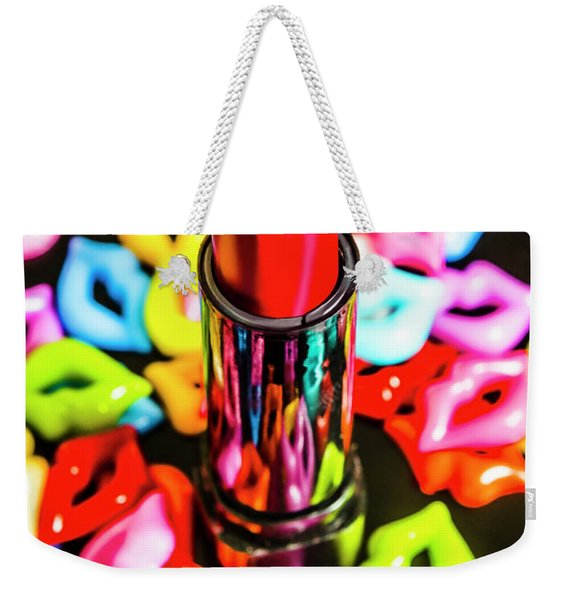 Beauty Lips And Makeup Tips Weekender Tote Bag