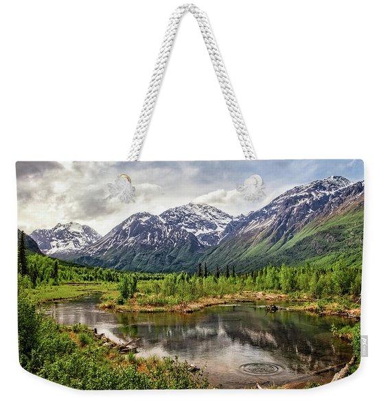 Beaver Pond, Eagle River Ak Weekender Tote Bag