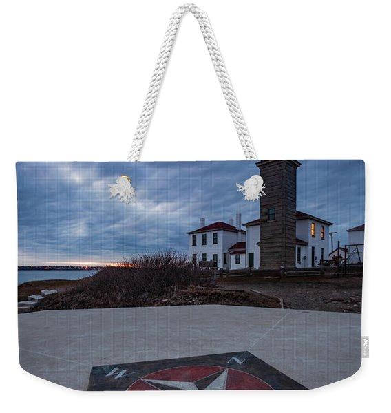 Beavertail Lighthouse Weekender Tote Bag