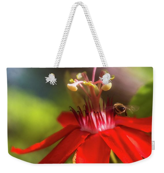 Weekender Tote Bag featuring the photograph Beeline Movement by Robin Zygelman