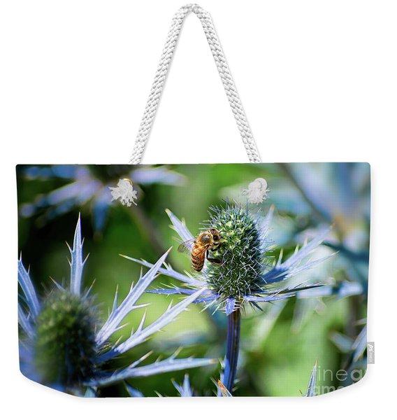 Bee's Got The Blues Weekender Tote Bag