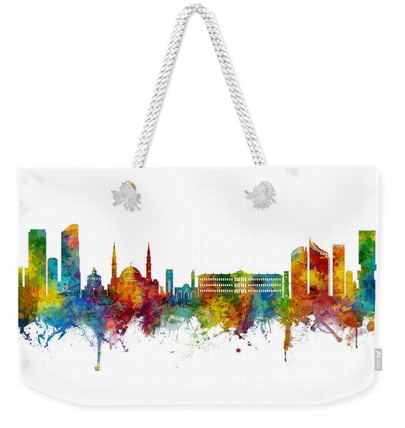 Beirut Lebanon Skyline Weekender Tote Bag