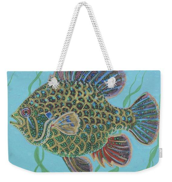 Bejeweled Bluegill Weekender Tote Bag