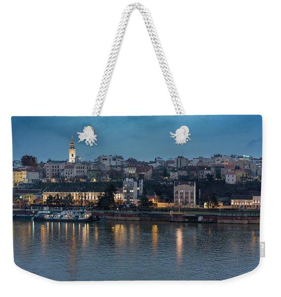 Belgrade Skyline And Sava River Weekender Tote Bag
