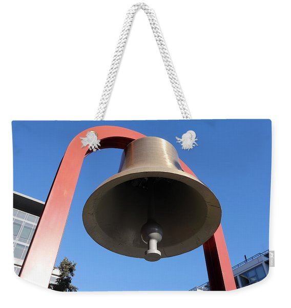 Bell At First Responder Plaza Weekender Tote Bag