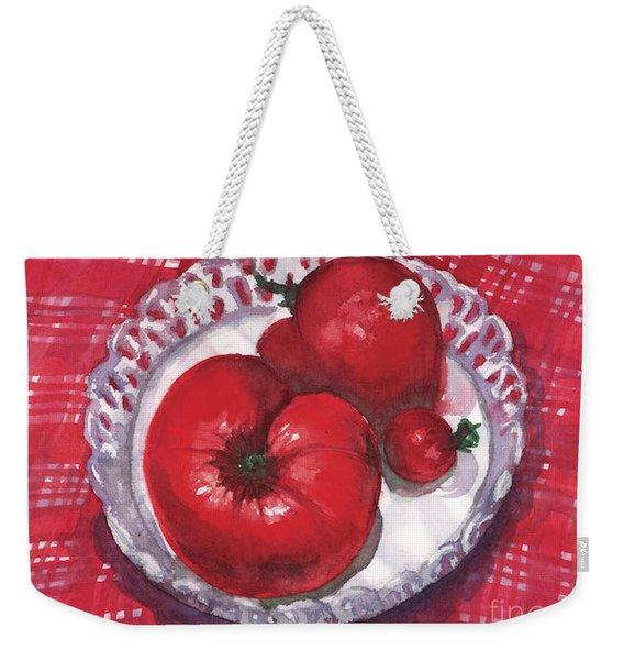 Bella Tomatoes Weekender Tote Bag