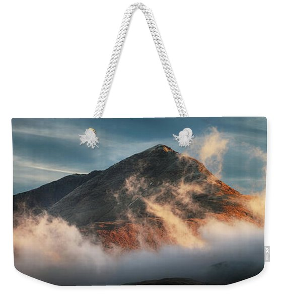 Ben Lomond Misty Sunset Weekender Tote Bag
