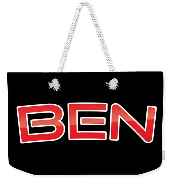 Ben Weekender Tote Bag