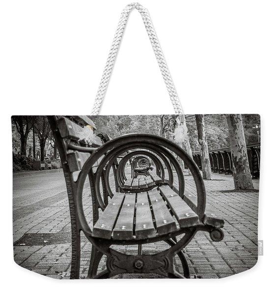 Bench Circles Weekender Tote Bag