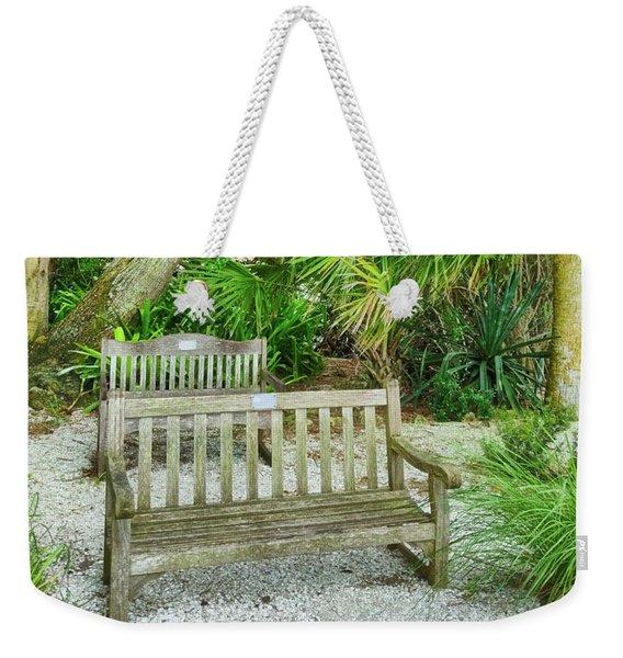 Bench View Weekender Tote Bag