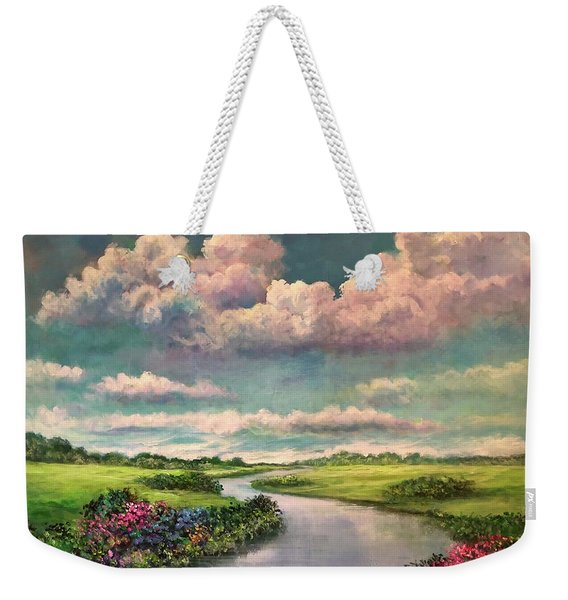 Beneath The Clouds Of Paradise Weekender Tote Bag