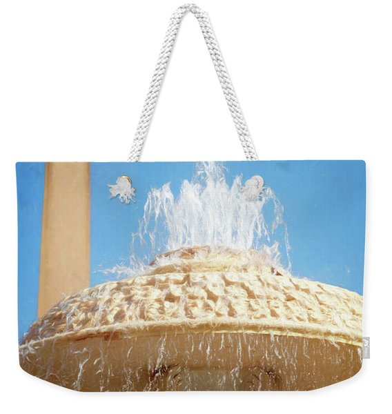 Bernini Fountain St Peter's Square Vatican City Weekender Tote Bag