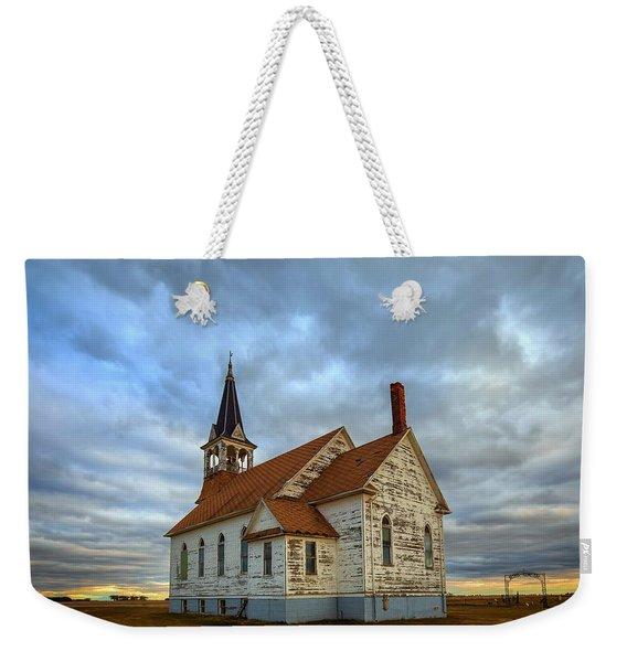 Bethel Scandinavian Lutheran Church At Sunset Weekender Tote Bag