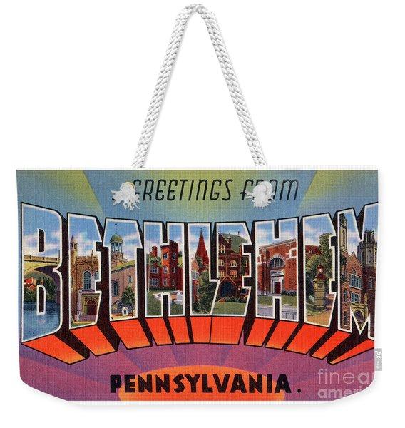 Bethlehem Greetings Weekender Tote Bag