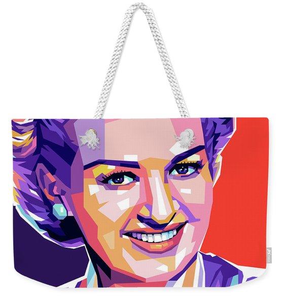 Betty Grable Pop Art Weekender Tote Bag