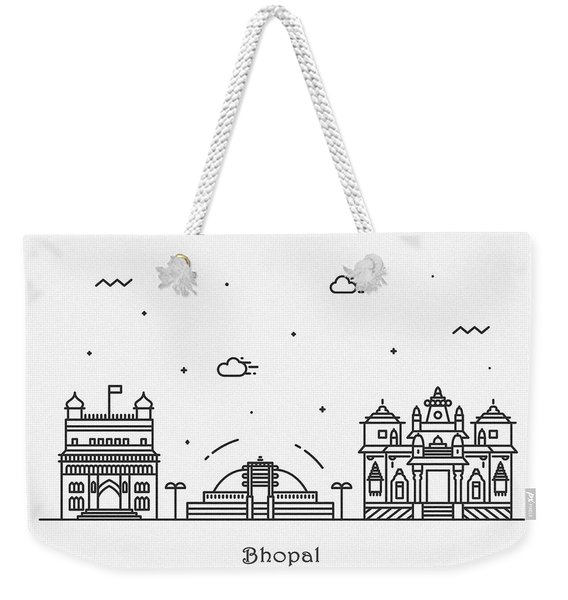 Bhopal Cityscape Travel Poster Weekender Tote Bag