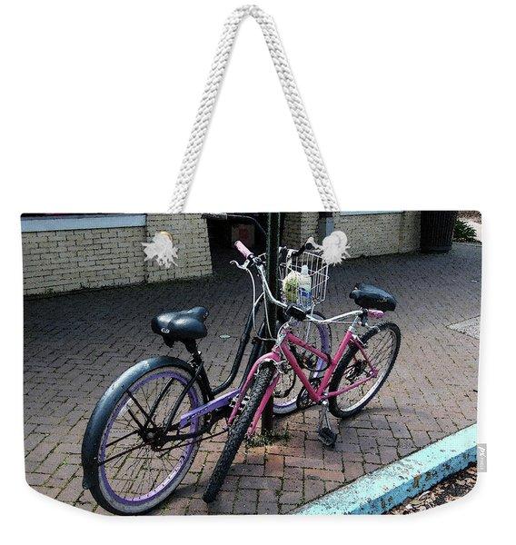 Bicycles City Park New Orleans Weekender Tote Bag