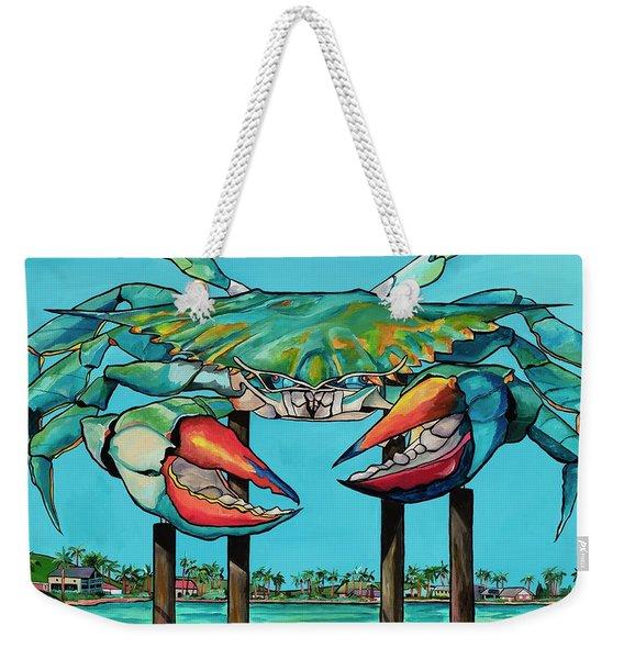 Big Blue Crab Rockport Weekender Tote Bag