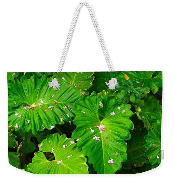 Big Green Leaves Weekender Tote Bag