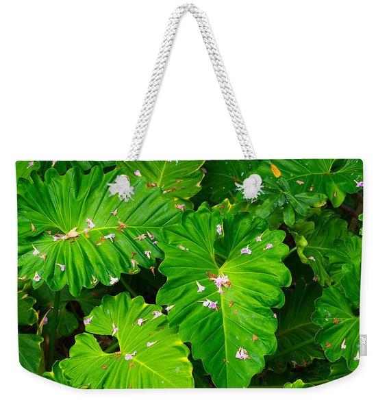 Big Green Leaves Weekender Tote Bag