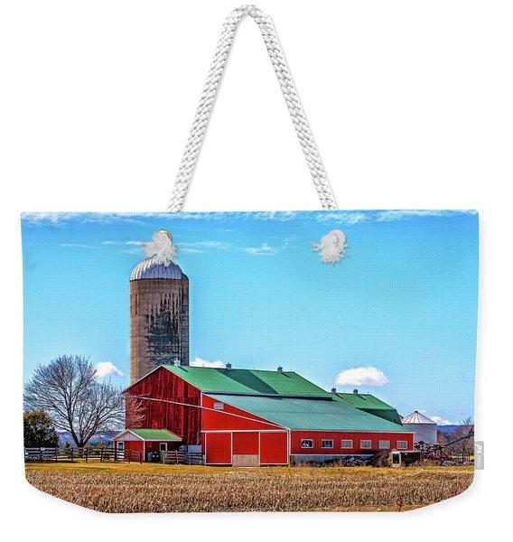Big Red Barn 3 Weekender Tote Bag