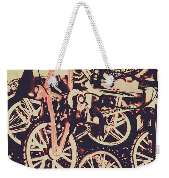 Bike Mountain Weekender Tote Bag