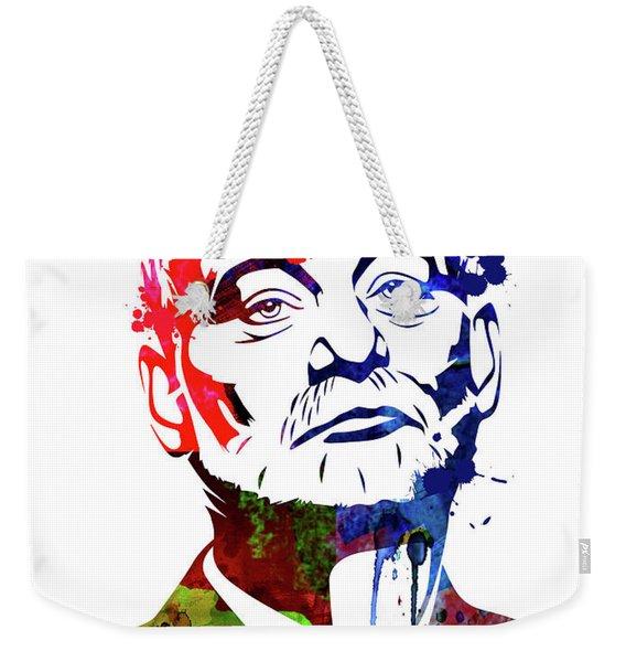 Bill Murray Watercolor Weekender Tote Bag
