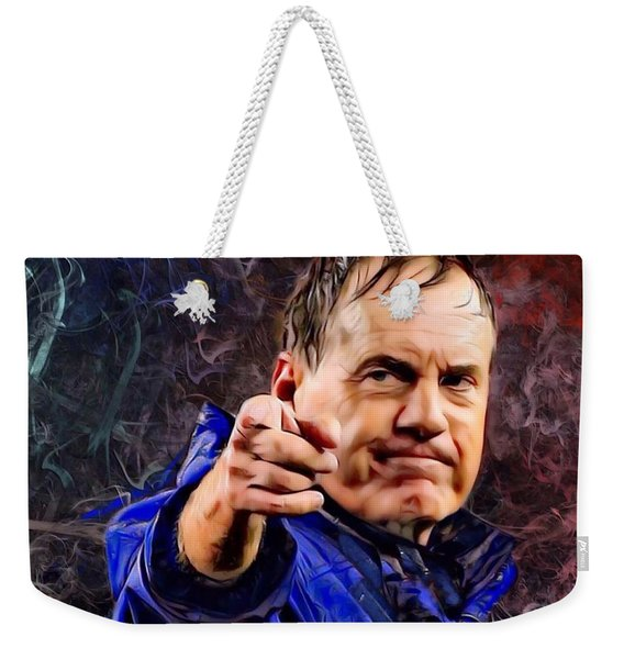 Bill Stephen Belichick Portrait Weekender Tote Bag
