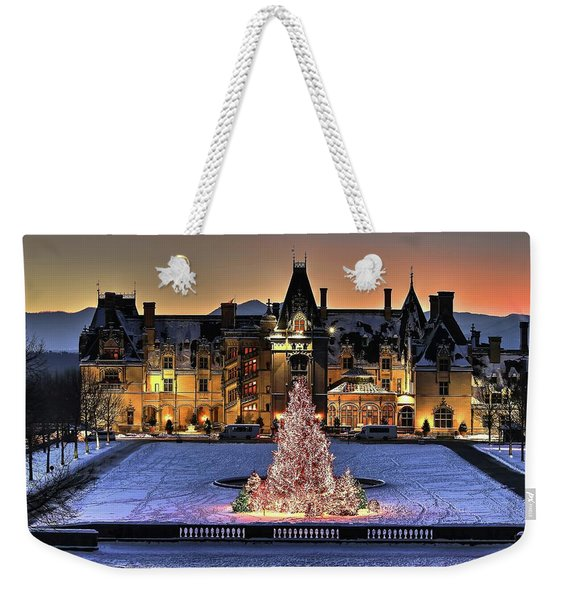 Biltmore Christmas Night All Covered In Snow Weekender Tote Bag