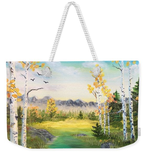 Birches By The Creek Weekender Tote Bag