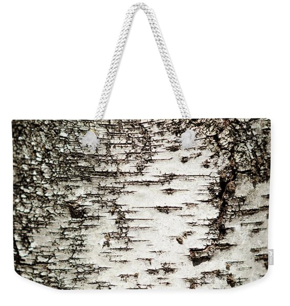 Birch Tree Bark Weekender Tote Bag