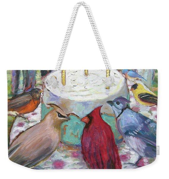 Bird Day Party Weekender Tote Bag