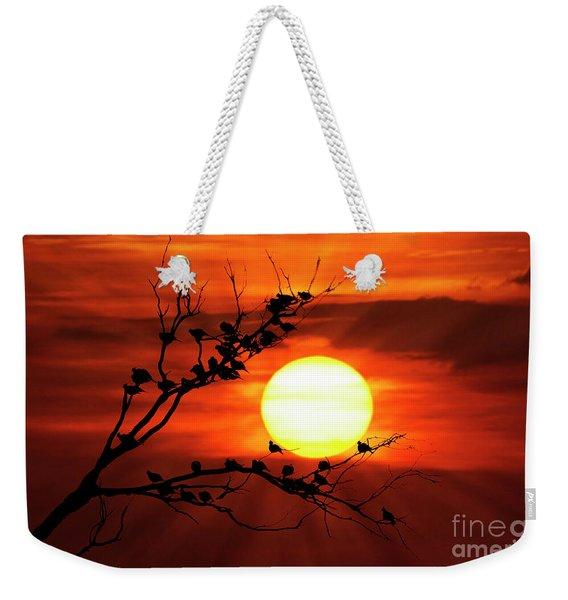 Birds 121 Weekender Tote Bag