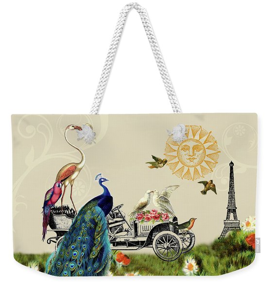 Birds Of A Feather In Paris, France Weekender Tote Bag