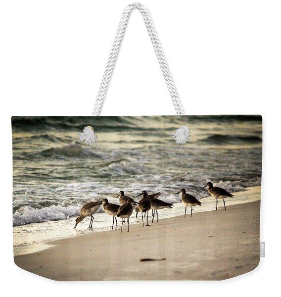 Birds On The Beach Weekender Tote Bag