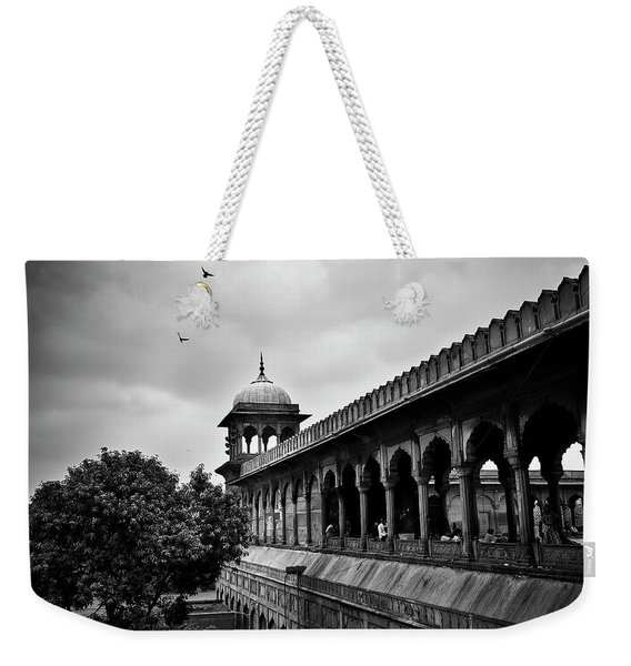 Weekender Tote Bag featuring the photograph Birds Over The Jama Masjid by Whitney Goodey